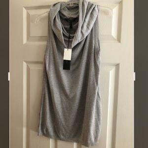BCBGMaxAzria Cowl neck sweater Top gray nwt new